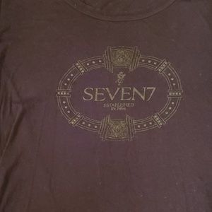 Long sleeve black shirt by Seven